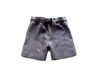 Children's linen shorts/short pants/short trousers/linen short trousers/linen clothing/wide shorts