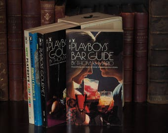 Vintage Playboy Party Pack - Bar Guide, Gourmet, Ribald Classics 3, Party Jokes