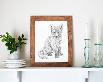 Fox Nursery Art, Boho Nursery Decor, Fox Print, Forest Nursery Art, Baby Animal Art, Woodland Wall Art, Fox Nursery, Nursery Woodland Art