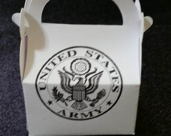Army party favor boxes Army Stong  gift boxes United States Army
