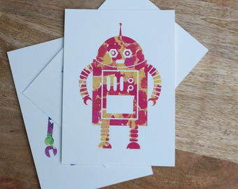 Watercolor Robot Print 3