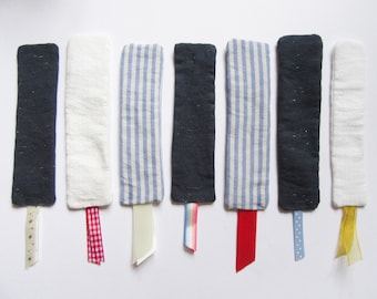handmade upcycled fabric bookmarks | proceeds to charity