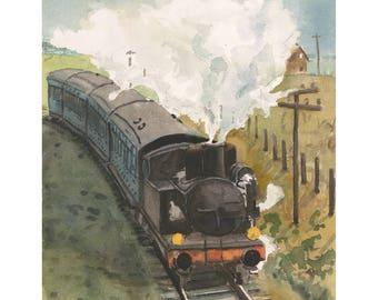 Steam Engine and Passenger Cars