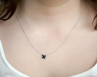 Necklace with four leaf clover / Gold or silver / Lucky 4 leaf Clover Bracelet