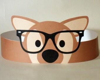 Hipster Deer Paper Crown - Printable