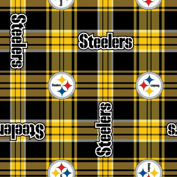 pittsburgh steelers football plaid anti pill polar fleece. Black Bedroom Furniture Sets. Home Design Ideas