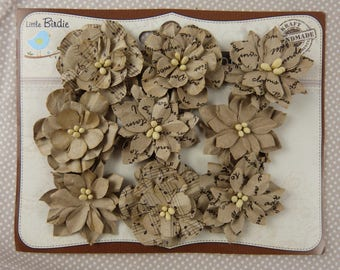 Paper for scrapbooking embellishment flowers