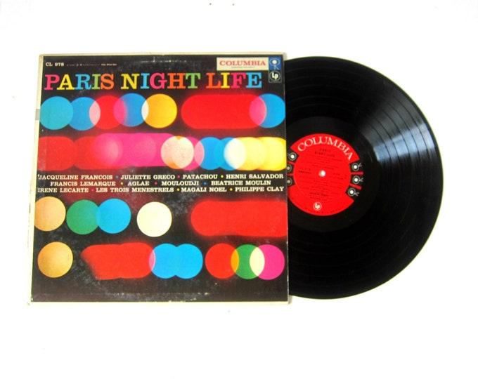 Paris Night Life Vinyl Record Album 12 Inch LP Vintage Music Columbia Record Album