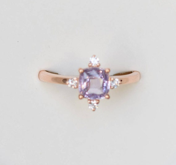 rose engagement lavender eidelprecious pin rings diamond gold ring cut pear peach sapphire by