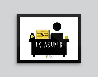 Treasurer Art Print, Accounting Poster, Accounting Art, Humorous Gift for Financial Treasurer, Accounting Office Decor, Accountant Poster
