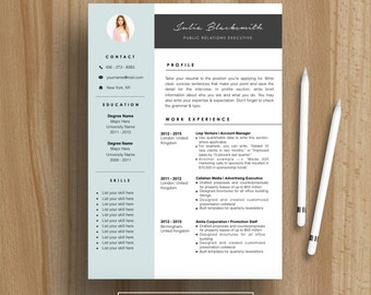 Professional Resume Template | CV Template | For MS Word | Instant Download  | Modern Creative