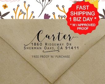 Custom Return Address Stamp, Self Ink Return Address Stamp, Personalized Address Stamp, Self Ink Custom Address Stamp (20496