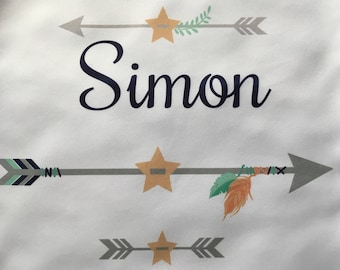Personalized Turn-/Sportbeutel with name for children motif Arrow Boy/girl