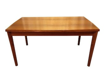 Mid-Century Dining Table Danish Modern BRDR Furbo Henning Kjaernulf Extension Dining Table