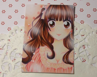 "Cocoa card / ACEO ""hazelnut Brown"""