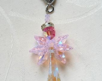 """keychain, bag charm """"Crystal Angel"""" 2"""