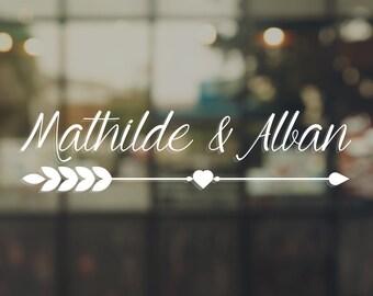 Wedding - Mathilde & Alban sticker