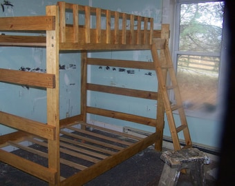 Heavy duty twin over twin bunk bed