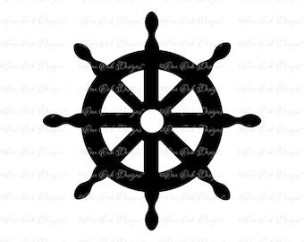 Ship Wheel Helm SVG DXF PNG for Cameo, Cricut & other electronic cutters