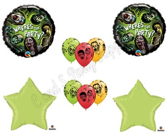 10 PIECE Zombies The Walking Dead Zone HALLOWEEN Party Balloons Decorations