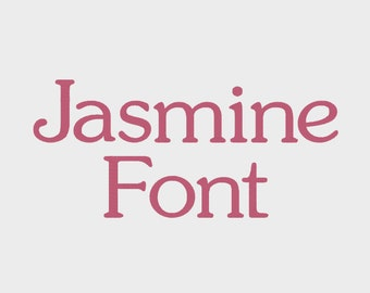 "Jasmine Embroidery Machine Font in 4 sizes (0.5"", 1"", 1.5"" & 2"") upper and lower case + numbers - INSTANT DOWNLOAD -  Item # 1080"