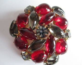 Pin - Brooch - Red Brooch- Costume Jewelry - Statement Piece