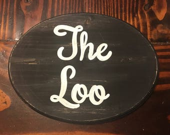 The Loo Sign (black) (7x9)