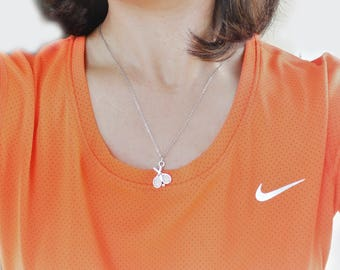 Tennis Pendant necklace, Tennis charm pendant, tennis necklace, tennis player necklace, Tennis Mom, Gift for Her, under 30, tennis gift