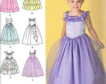 FLOWER GIRL DRESSES Simplicity Pattern 2463 Child's Sizes 3 4 5 6