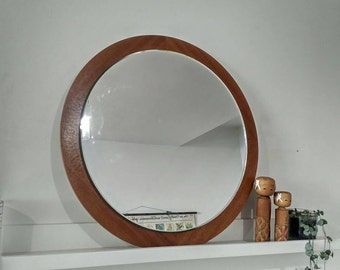 Badspiegel vintage simple groer wandspiegel teak design spiegel