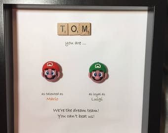 Super Mario Brothers- Mario & Luigi-  best friends- - brothers- best man- usher- Mario bro gift