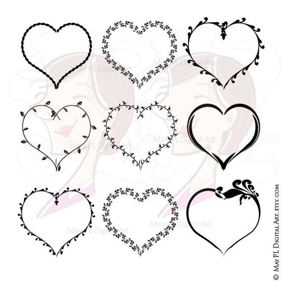 Valentines Heart Svg Frames Love Frame VECTOR Clip Art also