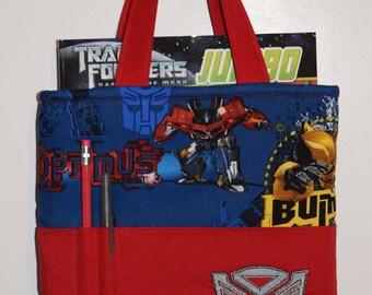 Crayon Bag, Tote Bag, Crayon Tote Bag, Crayon Holder, Transformers