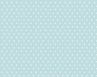 Polka Dot - Blue - Tout Petit KNIT by Cloud9 Fabrics