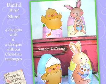 Easter Egg Party Favors cute printable wrappers for children religious and plain