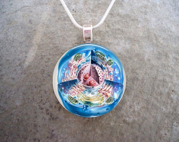 Cell Jewelry - Glass Pendant Necklace - Science Jewellery - Cell 4