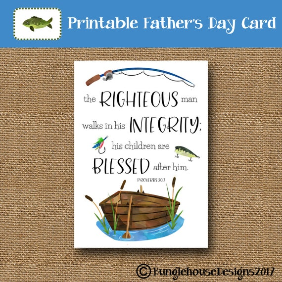 Printable fathers day card christian father scripture m4hsunfo