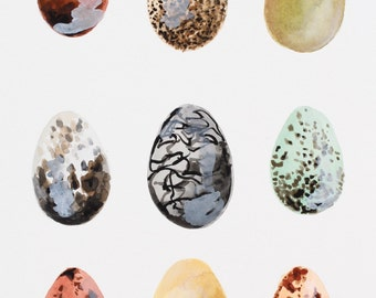 Golden Egg Original Watercolor Painting // Original Art
