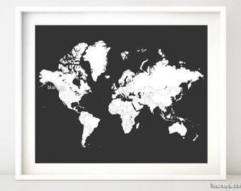 Coloring world map etsy printable world map with countries for coloring adult coloring page grown up coloring book grown up color me in world map map140 079 gumiabroncs Choice Image