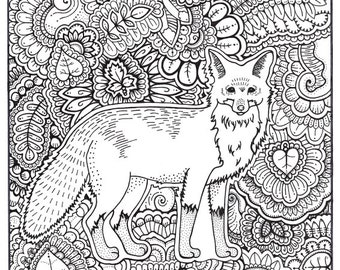 Printable Adult Coloring page coloring pages nature animals