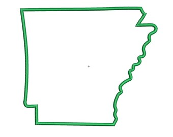 State of Arkansas Applique Instant Download Machine Embroidery Design