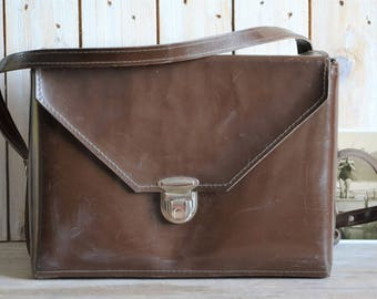 Vintage camera case, Large camera bag, Camera case, Motorcyclist bag, Camera lens case, Vintage handbag