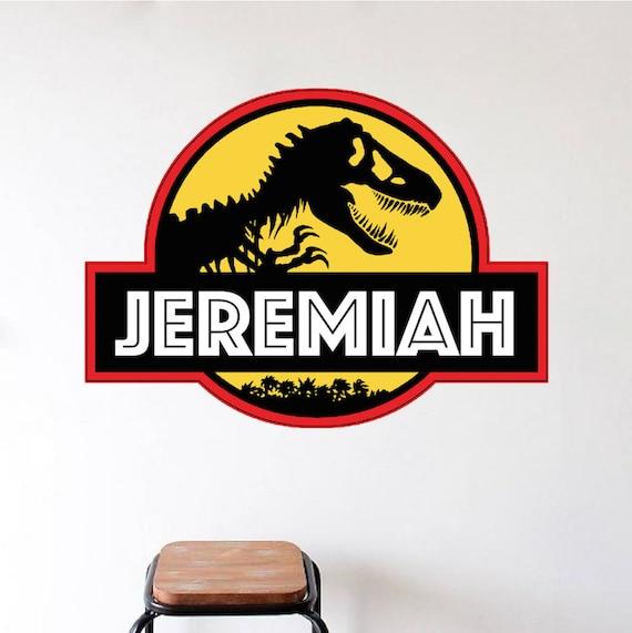 Jurassic park decal jurassic park wall design personalized for Best 20 jurassic park wall decal