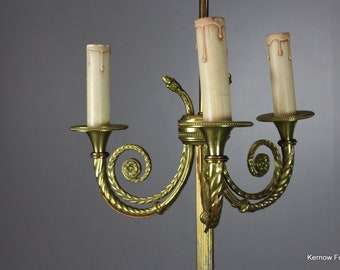 French Brass Standard Lamp