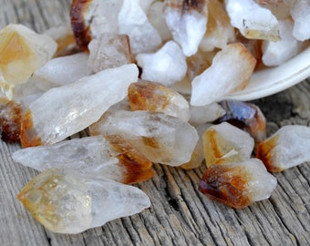 Citrine Crystal Point - Raw Citrine Crystal -  Citrine Healing Crystal - Yellow Crystals and Stones