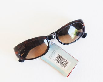 90S DEADSTOCK brown sunglasses, perfect for spring summer / festival / 90's / square / rave / raver / club-kid / club kid / clubkid / techno