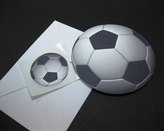 Soccer Coach Gift Card Thank You Card / Soccer Birthday Card / Ball Shaped Card / Soccer Coach From The Team Card