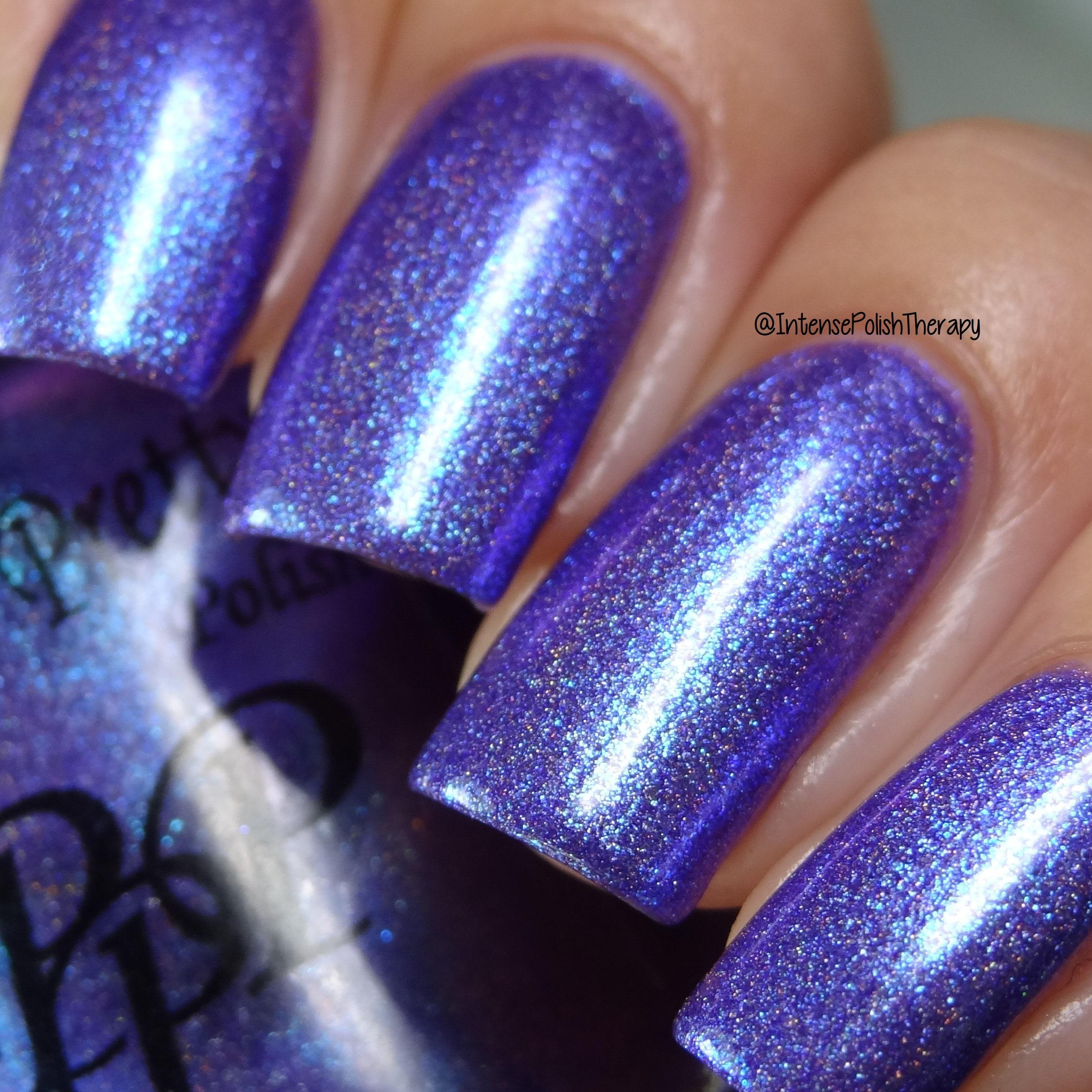 Hot Stuff, nail polish, multichrome nail polish,purple cyan nail ...