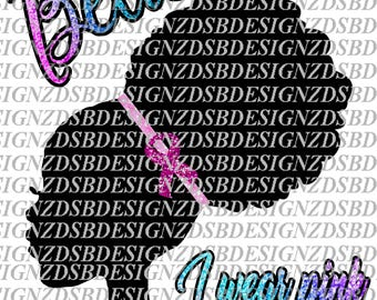 African American Iron ON transfer, African American Clipart, African American Iron On, African American DIY, BCA, Breast Cancer Awareness