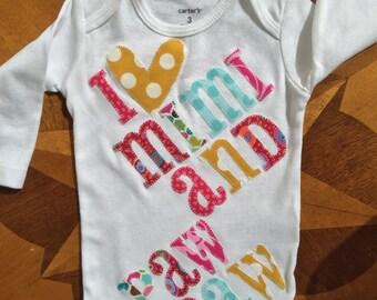 Baby bib and matching onesie